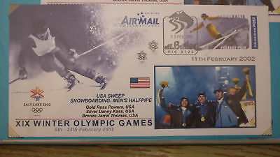 2002 Winter Olympic Games Medal Win Cover, Usa Snowboarding Gold Silver Bronze