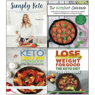 Simply Keto collection Diet Crock Pot Lose Weight For Good 4 books set NEW UK