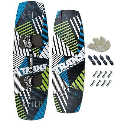TRANS FREESTYLE KITEBOARD ~ SEE YOU 141 x 43 + TRANS PADSET + FINNEN