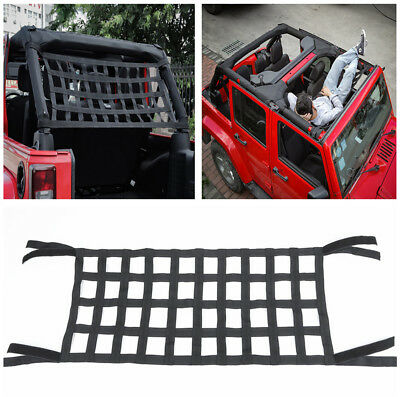 Cargo Net Cover Car Top Roof Hammock Bed Rest Storage For Jeep Wrangler JK 07-18