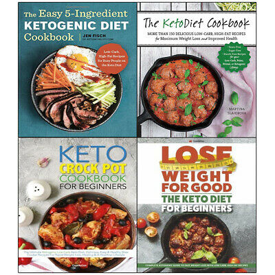 Easy 5-Ingredient Ketogenic Diet 4 Books collection set Diet Crock Pot Keto NEW