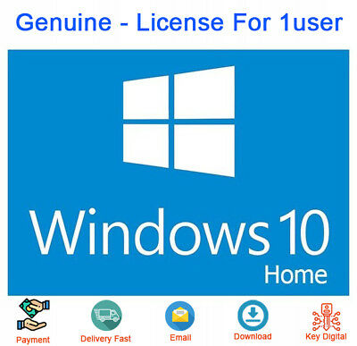 Genuine Windows 10 Home 32/64 bit License Key Activation License
