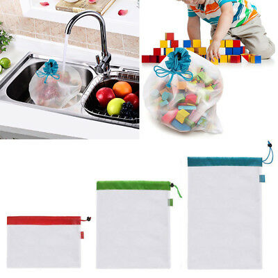 Vegetable Kitchen Accessories Drawstring Bag Fruit  Rope Toys Storage Pouch Mesh
