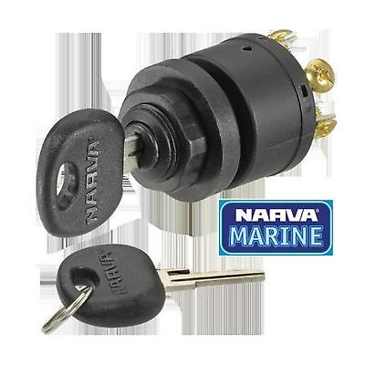 Narva 3 Position Ignition Switch (Marine) w/ Push For Choke Function 64008 Free