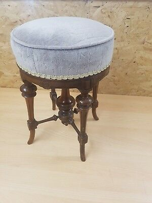 Antique Howe Rise & Fall Piano Stool - Victorian/Regency Style Music Seat