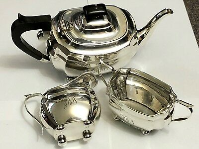 Sterling Silver Tea Service - S Blanckensee & Son Ltd - Chester - 1932