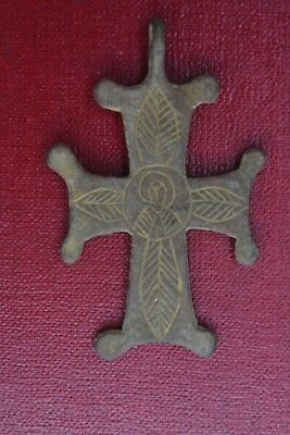Medieval Templar or Crusader Bronze cross Jesus Christ 15th century AD