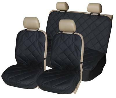 PREMIUM BLACK QUILTED SEAT COVERS SET for MORRIS MINOR (69-ON)