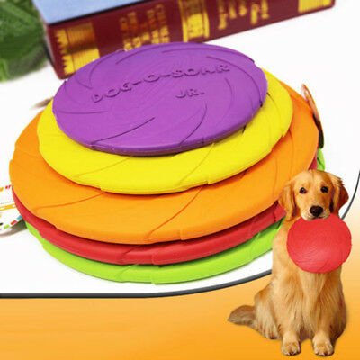 New Dog Frisbee Rubber Flying Disc Tooth Resistant Training Fetch Pet Toy Ornate