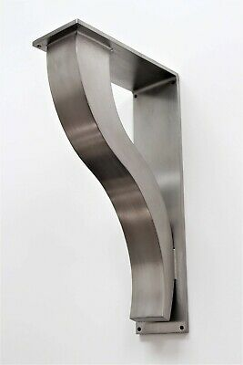 Large Stainless Steel Countertop Support Brackets, Shelf Bracket, Metal Corbels.