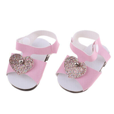 "Pink Sandals Shoes for 18"" American Girl Our Generation My Life Doll Outfit"