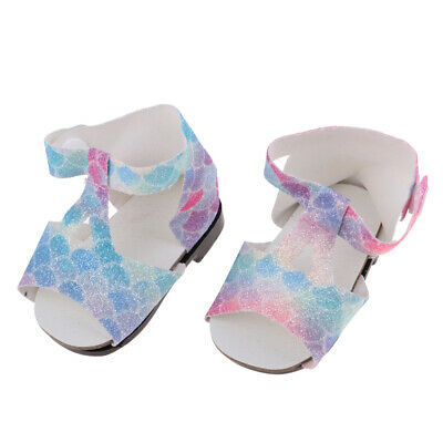 """Sandals Summer Outfit for 18"""" American Girl Our Generation Doll Sequin Shoes"""