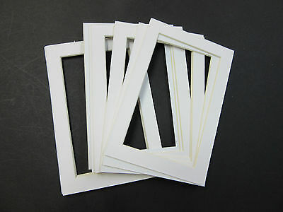 5x7 Photo Mats For 4x6 Photos Lot Of 20 White Picture Frame Mats