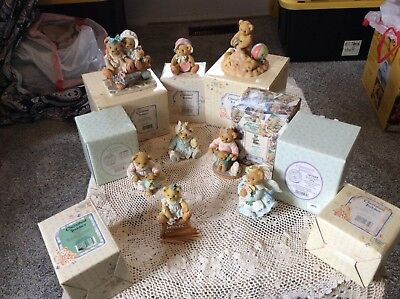 Cherished Teddies ~ Full Size ~ Lot of Eight ~ all boxes included