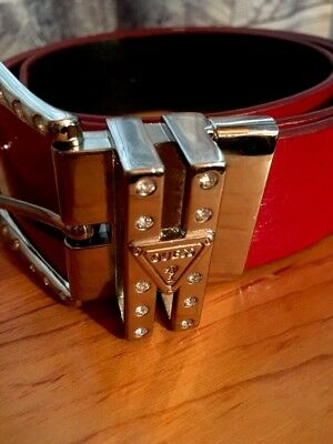 Guess Women's Belt Red Blingy L NICE!!