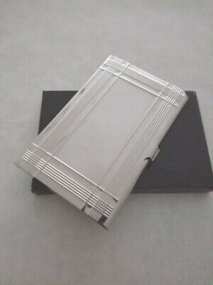 Stainless Steel BUSINESS CARD HOLDER Case Credit Wallet Silver NEW in BOX