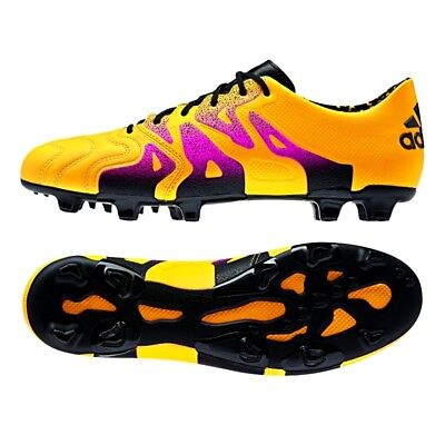 new styles f8876 a9fe3 Adidas X 15.1 FG AG LEATHER Gold Black Soccer Cleats Kicks 6.5 Mens S74616