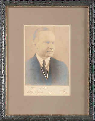 Calvin Coolidge - Photograph Inscribed & Signed - Nicely Matted & Framed