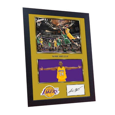 KOBE BRYANT LA LAKERS A2 or A3 POSTER PHOTO PRINT BASKETBALL NBA AUTOGRAPHED