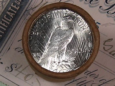 $20 SILVER DOLLAR ROLL D-Mint and S-Mint PEACE DOLLAR ENDS