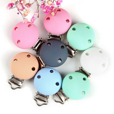Clip Pretty Suspender Round Holes Nipple Dummy Pacifier Infant Baby Wooden