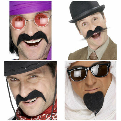 SMIFFYS Fancy Dress Self Adhesive Fake Moustache Tash Different Styles