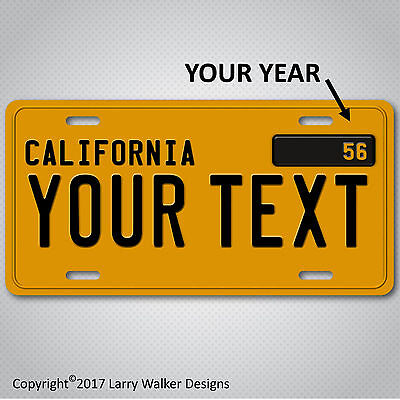 California Custom Personalized 1950s YOUR TEXT  Aluminum License Plate Tag New