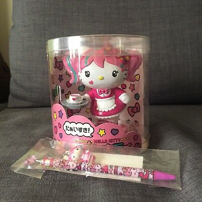SDCC 2013 Brand New In Package Hello Kitty Japanimation Figure and Pen Harajuku