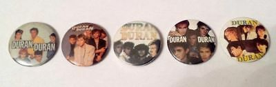 "DURAN DURAN Vintage Set Of 5 Original 80s Badges Buttons 1"" (25mm) GIFT IDEA 25"