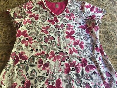 Women's Med Couture Scrub Top Size XL