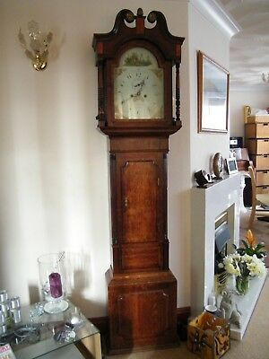 antique longcase grandfather clock 1830.good working order . eight day.