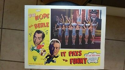 It Pays To Be Funny 1947 11X14 Lobby Card Bob Hope Milton Berle Norma Taylor