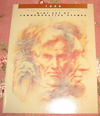 1986 USPS Commemorative Year Folder with Stamps MNH Complete