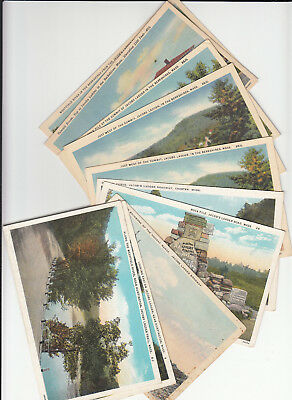 Lot of 10 Vintage Era Massachusetts Postcards Jacobs Ladder Trail Berkshires MA