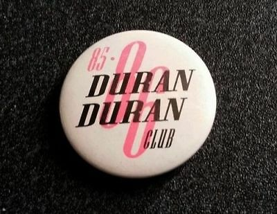 "DURAN DURAN Vintage 1985 Fan Club Original 1980s Badge Button 1 1/4"" (33mm)"