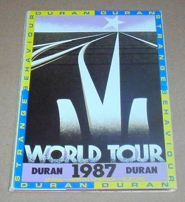DURAN DURAN Strange Behaviour Tour 1987 Postcards Style Banner Official GIFT