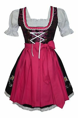 DIRNDL German Oktoberfest Party Short Swing Dress EMBROIDERED 3 Pcs COMPLETE SET