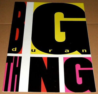 DURAN DURAN Official 1988 Big Thing Lyrics Fan Club Magazine