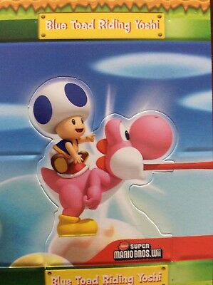 2010 SUPER MARIO BROTHERS BLUE TOAD RIDING YOSHI POP UP S7 of 10