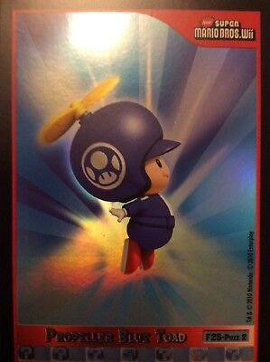 2010 Super Mario Brothers Propeller Blue Toad Trading Card F25-Puzzle 2