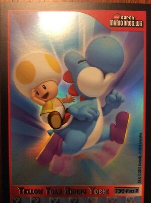 2010 Super Mario Brothers Yellow Toad Riding Yoshi Trading Card F-30 Puzzle 2
