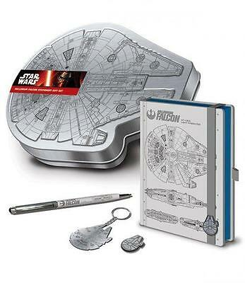 Star Wars Stationary Set Millenium Falcon SEALED Journal / Pen / Keychain