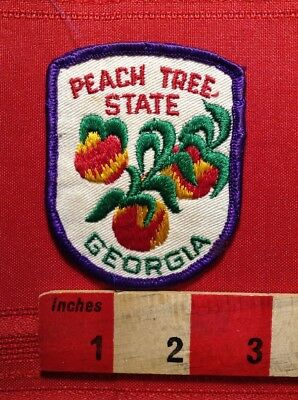 Vintage State Of Georgia PEACH TREE STATE Collector Patch 66E0