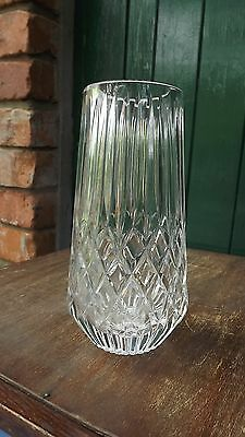 Tyrone Crystal large flower vase Beautiful Design & fine cut Stamped to base