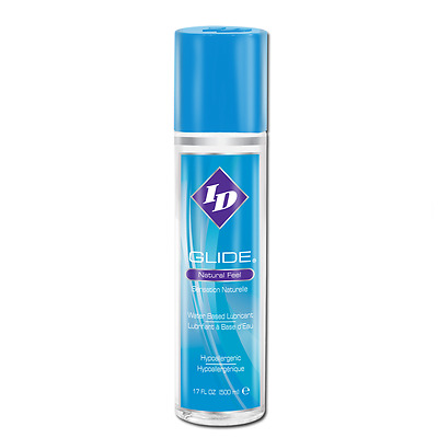 ID Glide Water Based Personal Sex Lube Lubricant Natural Feel 17 oz 500 mL