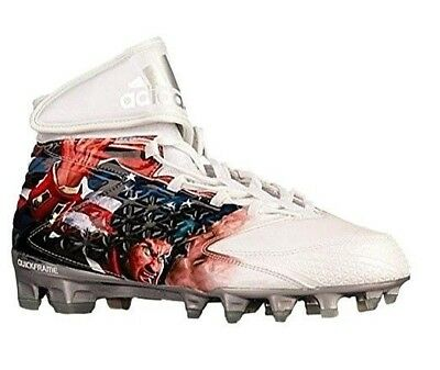 11502ced286 Adidas Freak X Carbon High Uncaged Patriot Knight Football Cleats 11.5 14  Mens