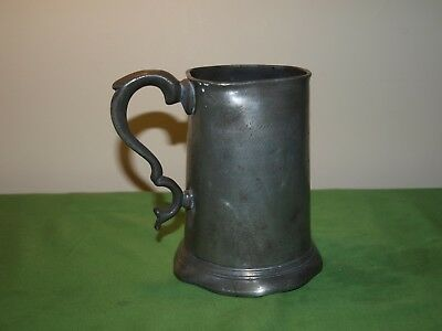 "19th Century Pewter Pint Tankard Inscribed with Prayer and ""TUC"""