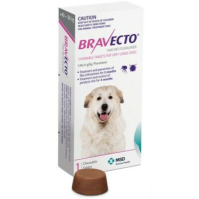 Bravecto for Very Large Dogs 40 - 56kg  Single Chew