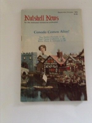 Nutshell News September/october 1979 Magazine Rare! Dollhouse Miniatures