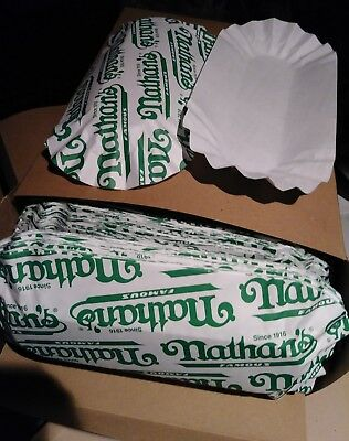 """6"""" Fluted Nathans Paper Hot Dog Trays, 500 Trays  per CASE"""